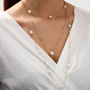 💖 2/$30 SALE Layered Gold plated pearl necklace